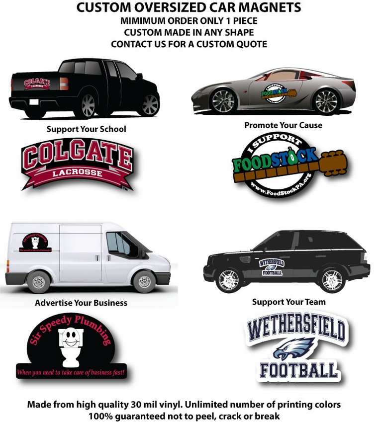 Oversized Custom Car Magnets - Custom car magnets for business