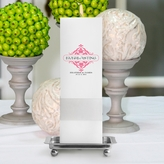 Personalized Color� Bliss Unity Candle with Stand - Square Pillar