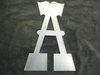"Raw Steel 10"" Letter A"