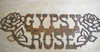 Rusted Metal Gypsy Rose sign Wall Hanging