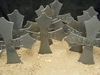 Metal Cross Garden Stakes