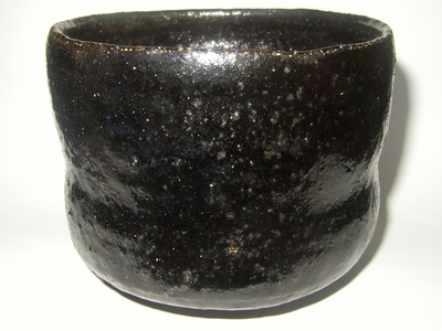 Hikidashi-Guro Chawan #1 (Black Raku Tea Bowl)