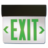 "Exit Sign 10.5"" x 14"" 120vac Edge-Lit Illuminated Hanging Sign (Single Sided)"