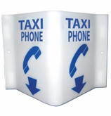 Taxi Phone Location Sign