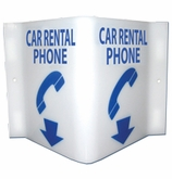 Car Rental Phone Location Sign