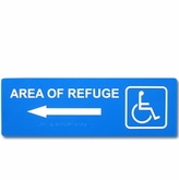 "5"" x 15"" Raised & Braille Directional Sign (Left Arrow)"