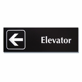 "4""x 12"" Engraved Emergency Directional Sign (Left Arrow)"