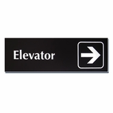 "4""x 12"" Engraved Emergency Directional Sign (Right Arrow)"