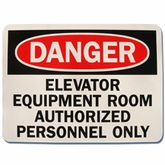 "7"" x 10"" Danger/ Authorized Personnel (Wall Sign)"