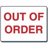 "14"" x 20"" Out of Order Sign"