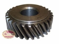 24) Gear, crankshaft, L -134, 1945-53 Willys Jeep CJ-2A, CJ-3A