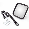 Mirror and arm kit, left side, black, fits 1955-86 Jeep CJ-5, CJ-6, CJ-7 & CJ-8 Scrambler