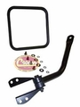 Mirror and arm kit, right side, black, fits 1955-86 Jeep CJ-5, CJ-6, CJ-7 & CJ-8 Scrambler