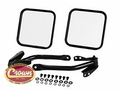 Complete mirror and arm kit, right & left side, black, fits 1955-86 Jeep CJ-5, CJ-6, CJ-7 & CJ-8 Scrambler