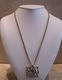 Kenneth Jay Lane Time Maltese Clear Crystal Necklace Watch