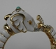 Kenneth Jay Lane White Enamel Elephant Bracelet