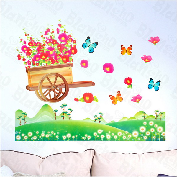 Flowers & Fields - Wall Decals Stickers Appliques Home Decor