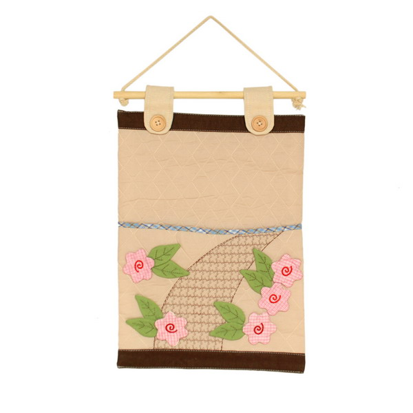 [Pink Flowers] Ivory/Wall Hanging/Wall Organizers/Wall Pocket/Wall Pocket (11*14)