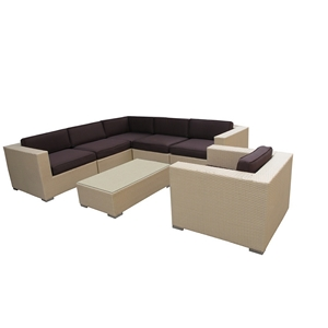 South Beach 7pc. Outdoor Wicker Set