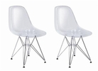 2 Lexy Eiffel Base Ghost Chair