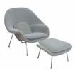 Eero Saarinen Style Womb Chair and Ottoman Set