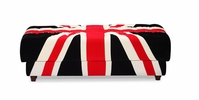 Union Jack Ottoman Red, White & Black