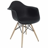 Wood Pyramid Armchair Black