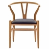 Amish Chair with Leatherette Seat