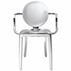Philippe Starck Style Ghost Arm Chair Polished Stainless Steel