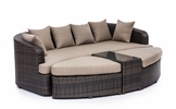 Cove Beach Lounge Set Brown