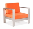 Cosmopolitan Armchair-Cushions Orange