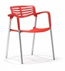 Scope Dining Chair Red