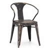 Helix Chair Antique Black Gold