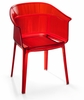 Allsorts Dining Chair Transparant Red by Zuo Modern
