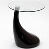 Teardrop Side Table Black