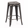 Marius Counter Stool Antique Black Gold (set of 4)