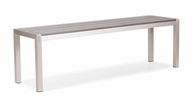 Metropolitan Bench Brushed Aluminum