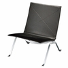 Le Corbusier Style Lounge Chair Black