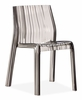 Ruffle Dining Chair Transparent Gray
