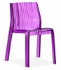 Ruffle Dining Chair Transparent Purple