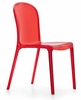 Gumdrop Dining Chair Transparent Red