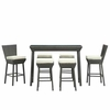Napa Outdoor Rattan Pub Table and Stools 7 Piece Set (Espresso & White)