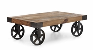 Barbary Coast Cart Table Distressed Natural