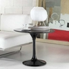 "24"" Eero Saarinen Style Tulip Side Table in Fiberglass Black"