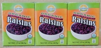 "California Gourmet Organic Raisins ""6-1.5oz"" six pack  / 24 case"