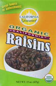 California Gourmet Organic Raisins 15 oz / 24 per case