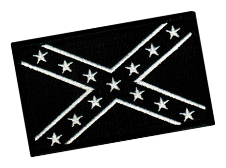 black and white confederate flag clipart