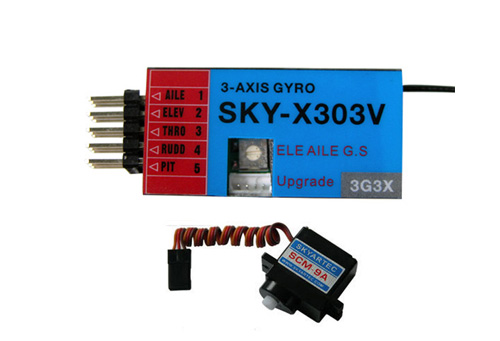GY3-05 SKY-X303V 3-Axis gyro System (include digital servo)
