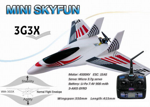 2.4GHz Skyartec MINI SKYFUN RTF R/C Airplane with 3G3X