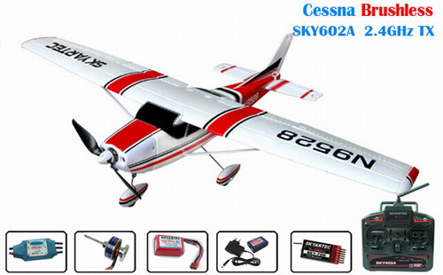 2.4GHz Skyartec Cessna 182 BL RTF R/C Airplane (with SKY602A TX)
